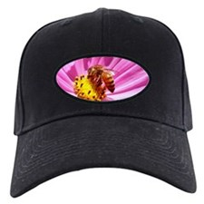 Honey Bee on Pink Wildflower Black Cap