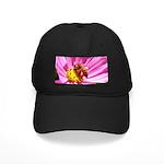 Honey Bee on Pink Wildflower Black Cap