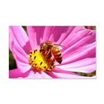 Honey Bee on Pink Wildflower 20x12 Wall Decal
