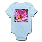 Honey Bee on Pink Wildflower Infant Bodysuit