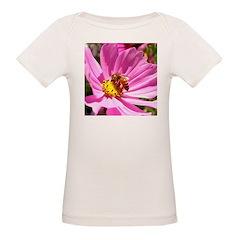 Honey Bee on Pink Wildflower Tee