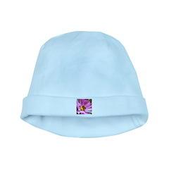 Honey Bee on Pink Wildflower baby hat
