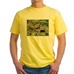 Bullfrog in green is King Yellow T-Shirt