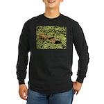 Bullfrog in green is King Long Sleeve Dark T-Shirt