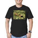 Bullfrog in green is King Men's Fitted T-Shirt (da