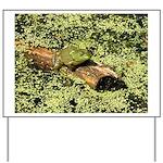 Bullfrog in green is King Yard Sign