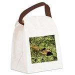 Bullfrog in green is King Canvas Lunch Bag