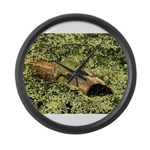 Bullfrog in green is King Large Wall Clock