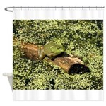 Bullfrog in green is King Shower Curtain
