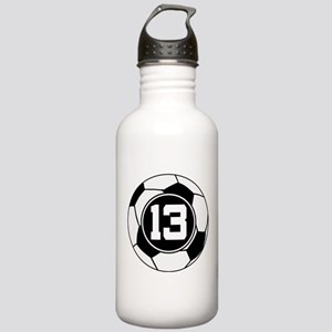 Soccer Number 13 Player Stainless Water Bottle 1.0