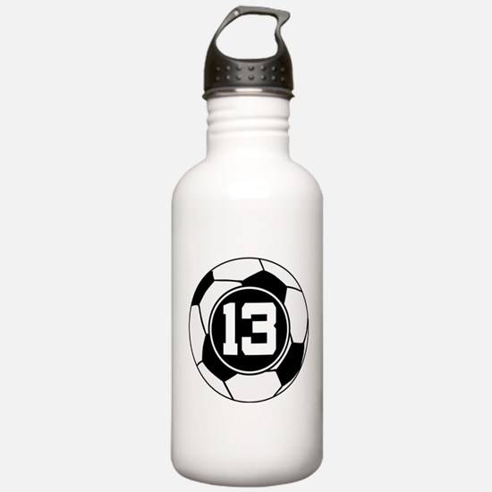 Soccer Number 13 Player Water Bottle