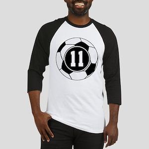 Soccer Number 11 Player Baseball Jersey