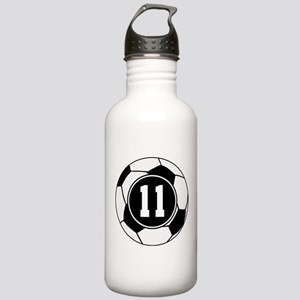 Soccer Number 11 Player Stainless Water Bottle 1.0