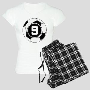 Soccer Number 9 Player Women's Light Pajamas