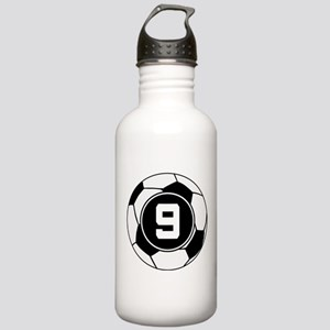 Soccer Number 9 Player Stainless Water Bottle 1.0L