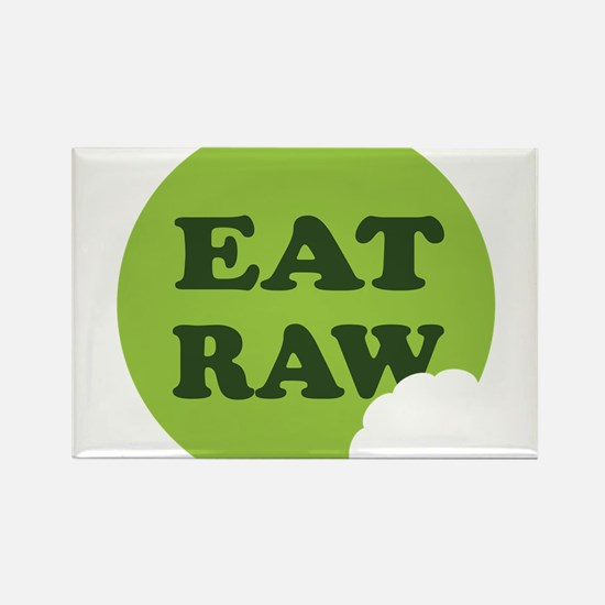 Eat Raw Rectangle Magnet