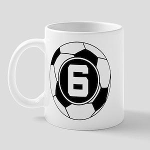 Soccer Number 6 Player Mug