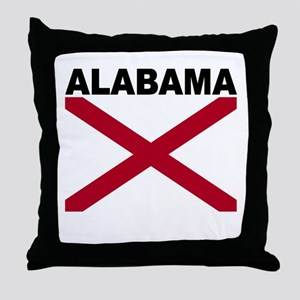 Alabama State Flag Throw Pillow
