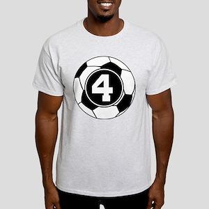 Soccer Number 4 Player Light T-Shirt