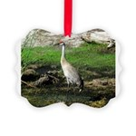 Sandhill Crane on Patrol LS Ornament