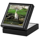 Sandhill Crane on Patrol LS Keepsake Box