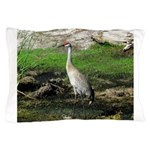 Sandhill Crane on Patrol LS Pillow Case