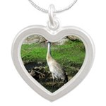 Sandhill Crane on Patrol LS Necklaces