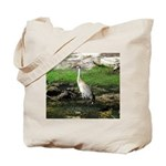 Sandhill Crane on Patrol LS Tote Bag