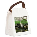 Sandhill Crane on Patrol LS Canvas Lunch Bag