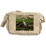 Sandhill Crane on Patrol LS Messenger Bag