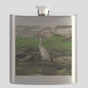Sandhill Crane on Patrol LS Flask