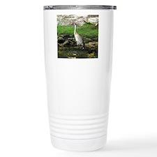 Sandhill Crane on Patrol LS Travel Mug