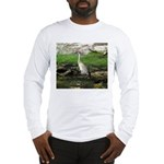 Sandhill Crane on Patrol LS Long Sleeve T-Shirt