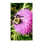 Bumble bee on Magenta Thistle Flower 3'x5' Area Ru