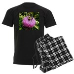 Bumble bee on Magenta Thistle Flower Pajamas