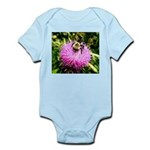 Bumble bee on Magenta Thistle Flower Body Suit