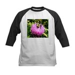 Bumble bee on Magenta Thistle Flower Baseball Jers