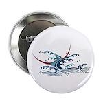 Japanese wave art Button