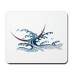 Japanese wave art Mousepad