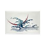 Japanese wave art Rectangle Magnet (10 pack)