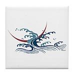 Japanese wave art Tile Coaster