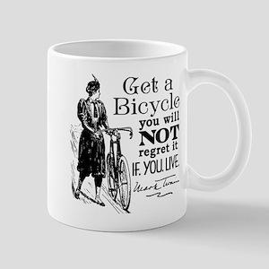 Twain Get A Bicycle Quote Mug