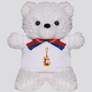 Flaming Guitar resized 02 3000 Teddy Bear