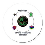 Saki Do Kwan 2013 Round Car Magnet