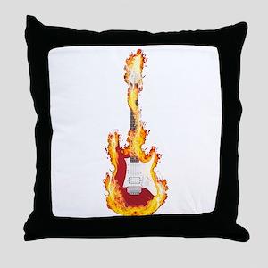 Flaming Guitar resized 02 3000 Throw Pillow