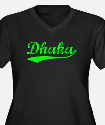 Vintage Dhaka (Green) Plus Size T-Shirt