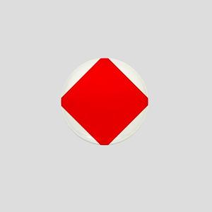 Nautical Flag Code Foxtrot Mini Button