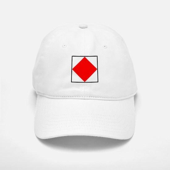 Nautical Flag Code Foxtrot Baseball Baseball Baseball Cap