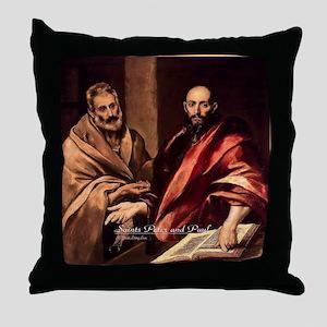 Saints Peter and Paul Throw Pillow
