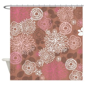 Brown And Pink Shower Curtains Cafepress